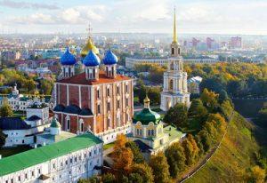 Веб-камера Рязани - Солотчинский монастырь в реальном времени