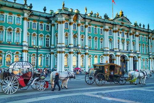 Санкт-Петербург - Зимний дворец, Эрмитаж, Дворцовая площадь