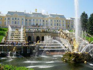 Веб-камера Санкт-Петербург, Петергоф, фонтаны Большого Каскада в реальном времени