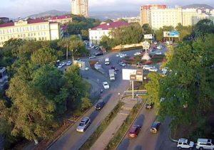 Веб-камера Владивосток, кольцо Инструментального завода в реальном времени