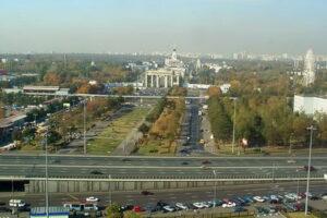 Веб-камера Москва, проспект Мира, эстакада над метро ВДНХ в реальном времени