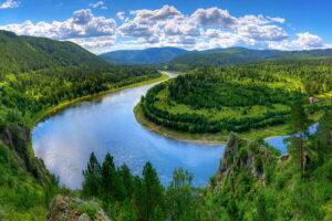 Веб-камера река Мана, база отдыха Береть (Красноярск) в реальном времени