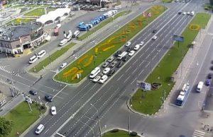 Веб-камера Москвы, Волгоградский проспект - метро Кузьминки в реальном времени