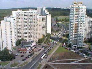 Веб-камера Москвы, Южное Бутово, улица Скобелевская в реальном времени